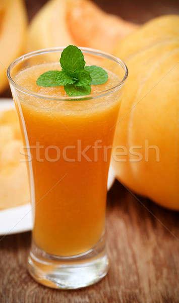 Juice of cucumis melo or muskmelon Stock photo © bdspn