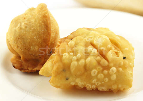 Sihngara or Samosa and Nimki Stock photo © bdspn