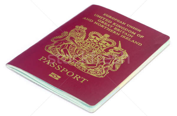 Britannique passeport blanche affaires Voyage Europe Photo stock © bdspn