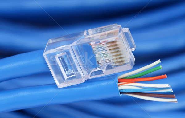 Ethernet kablo kablolar Internet ağ Stok fotoğraf © bdspn