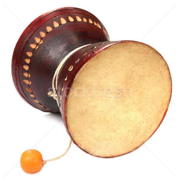 Muziekinstrument hout huid witte drums indian Stockfoto © bdspn