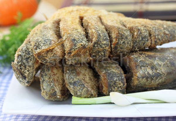 Megőrzött hal Délkelet-Ázsia szakács Ázsia eszik Stock fotó © bdspn