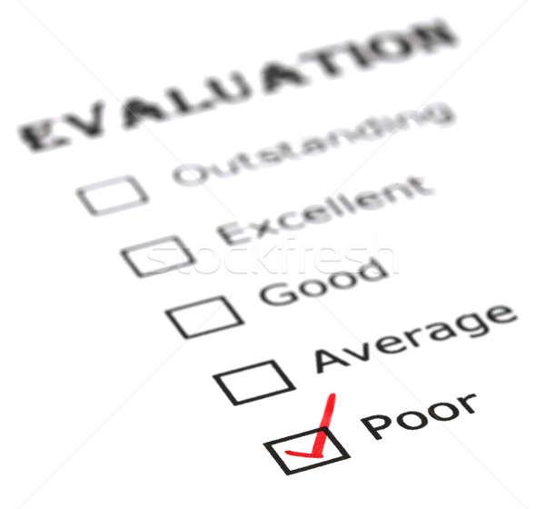 Poor evaluation Stock photo © bdspn