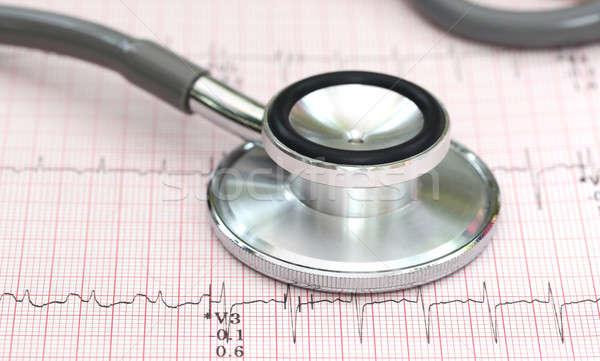 стетоскоп данные здравоохранения провал измерение Сток-фото © bdspn