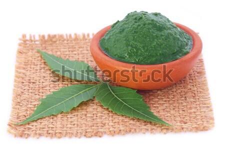 Edible moringa leaves with ground paste Stock photo © bdspn