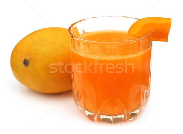 Manga suco frutas frescas branco laranja beber Foto stock © bdspn