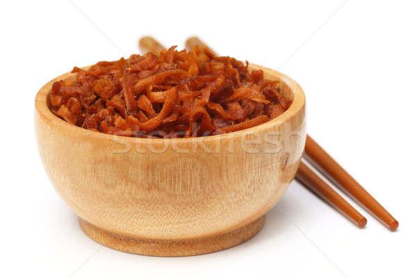 Dried dessert made of sliced carrot Stock photo © bdspn