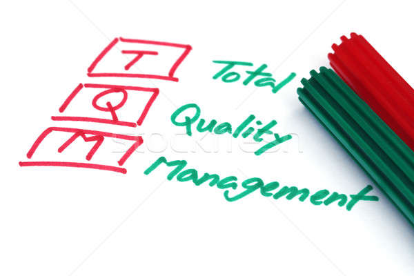 Total quality management written in paper Stock photo © bdspn