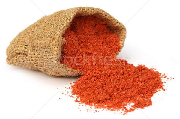 Műtrágya zsák táska étel narancs zöld Stock fotó © bdspn