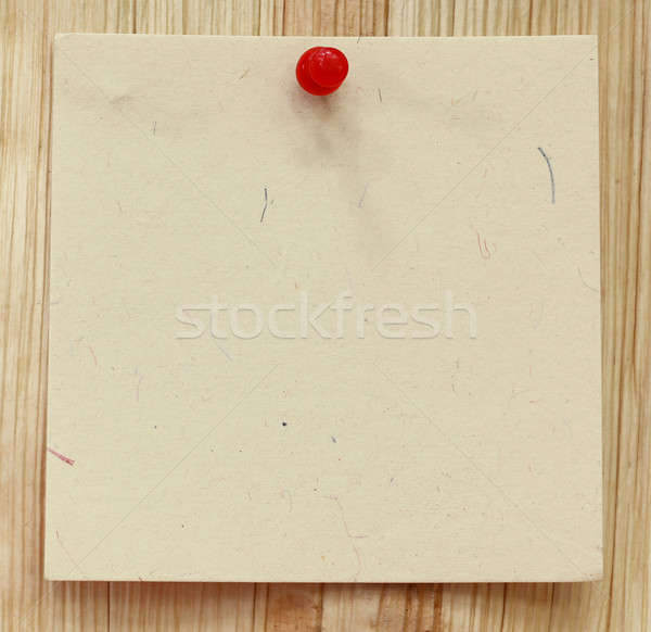 Blank notice with pushpin Stock photo © bdspn