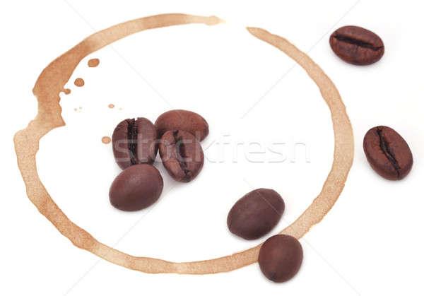 ストックフォト: コーヒーカップ · 染色 · 白 · 紙 · ドリンク