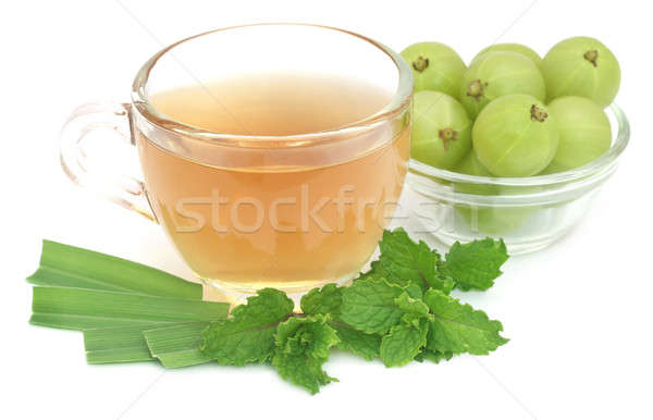 Herbal tea with amla and lemon grass Stock photo © bdspn