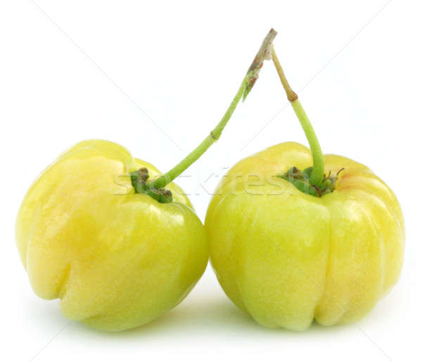 Fresh green cherry fruits Stock photo © bdspn