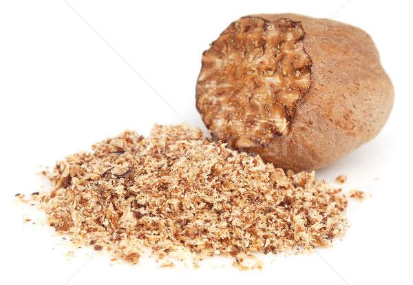 Küçük hindistan cevizi baharat beyaz gıda tıp tohum Stok fotoğraf © bdspn
