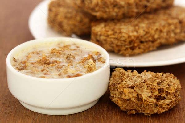 燕麦 クッキー ミルク 新鮮な 食事 ストックフォト © bdspn