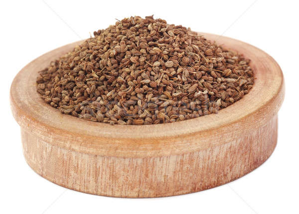 Ajwain seeds in a wooden bowl Stock photo © bdspn