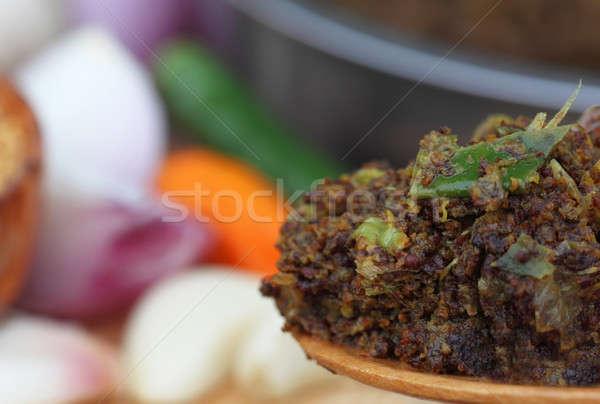Mosterd ander ingrediënten keuken voedsel olie Stockfoto © bdspn