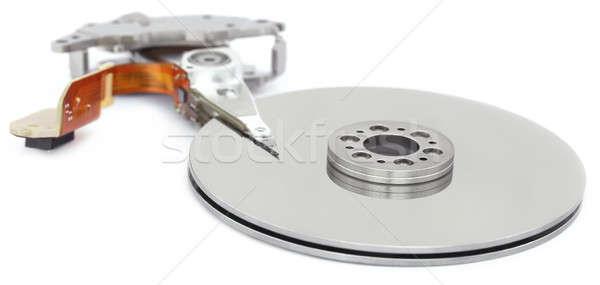Nyitva merevlemez vezetés fehér számítógép fém Stock fotó © bdspn