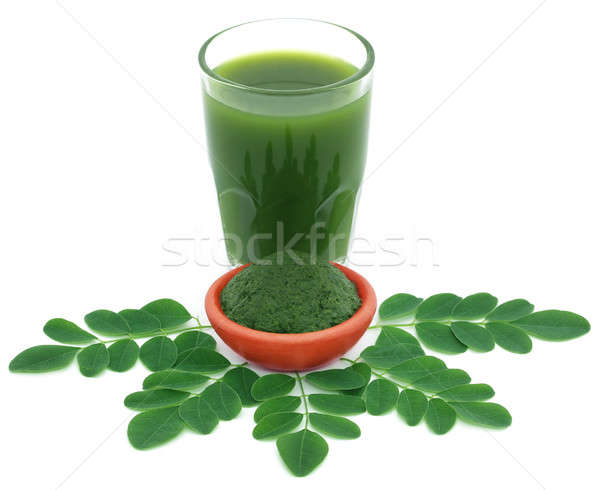 Foto d'archivio: Commestibile · foglie · terra · vetro · succo · vegetali