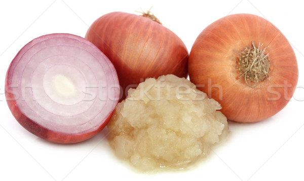 Mashed onion with whole ones Stock photo © bdspn
