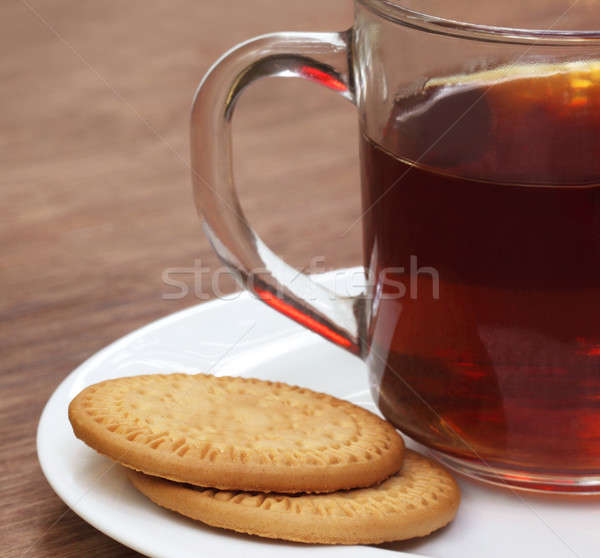 Cookies with cup of tea Stock photo © bdspn