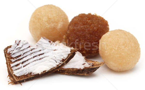 Coconut laddu of Southeast Asia Stock photo © bdspn