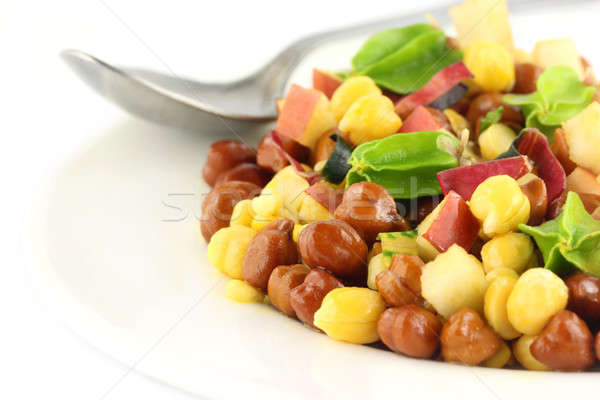Fresh chickpeas on a plate Stock photo © bdspn