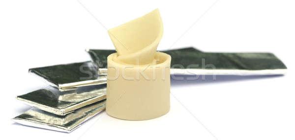 Mastigar goma branco natureza medicina frio Foto stock © bdspn