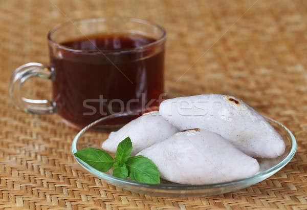 ручной работы индийская кухня риса мучной Кубок чай Сток-фото © bdspn
