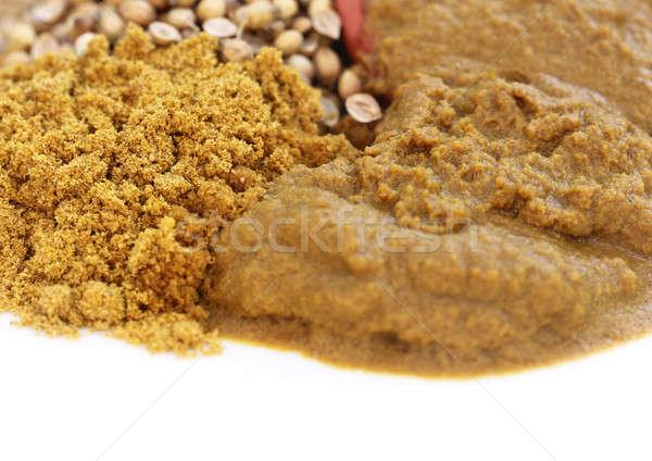 Ensemble sol coriandre indian épices jaune Photo stock © bdspn