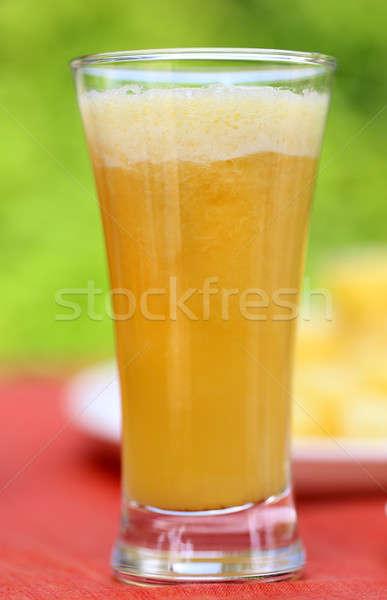 Stockfoto: Ananas · sap · selectieve · aandacht · vruchten · dranken · tropische