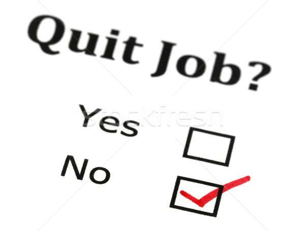 Quit job check mark Stock photo © bdspn