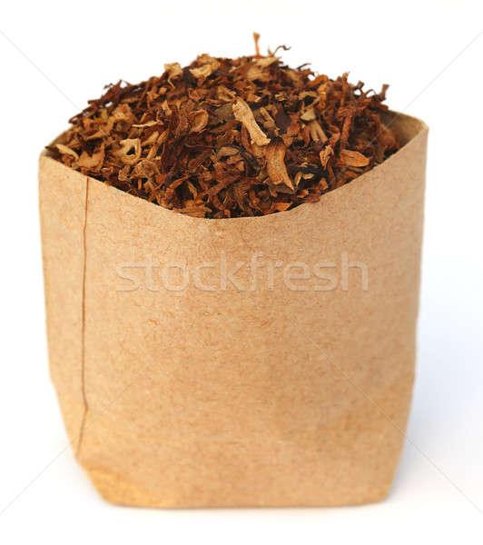 Séché tabac laisse papier brun texture feuille Photo stock © bdspn