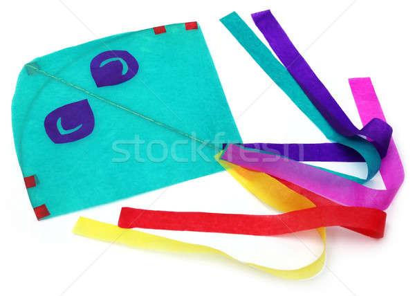 Hagyományos papírsárkány vékony papírok égbolt papír Stock fotó © bdspn
