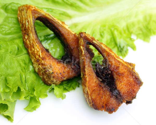 人気のある フライド 東南アジア 魚 白 規模 ストックフォト © bdspn