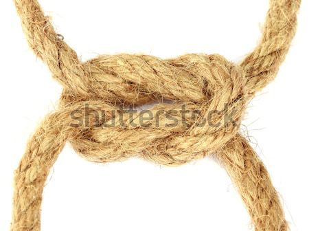 Rope knot on a bamboo Stock photo © bdspn