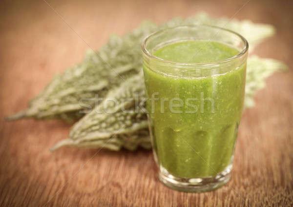 ジュース 緑 野菜 ガラス 白 ストックフォト © bdspn
