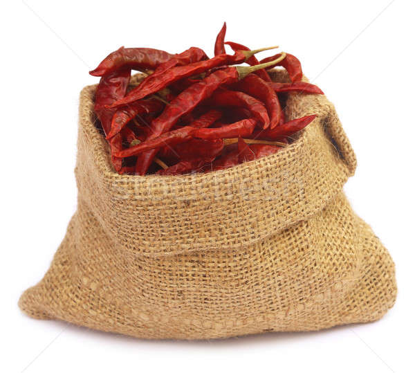 Red hot chilies with a sack Stock photo © bdspn