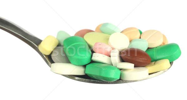 Tarka kanál ezüst fehér egészség törődés Stock fotó © bdspn