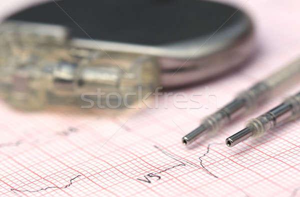 Szívritmusszabályzó közelkép orvosi adat egészségügy kudarc Stock fotó © bdspn