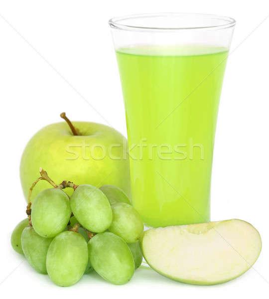 ブドウ リンゴジュース ガラス 新鮮な 果物 リンゴ ストックフォト © bdspn