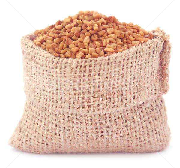 Fenugreek seeds in sack  Stock photo © bdspn