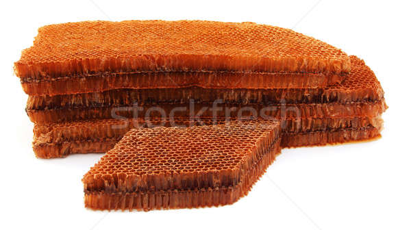 Honey Comb over white background Stock photo © bdspn