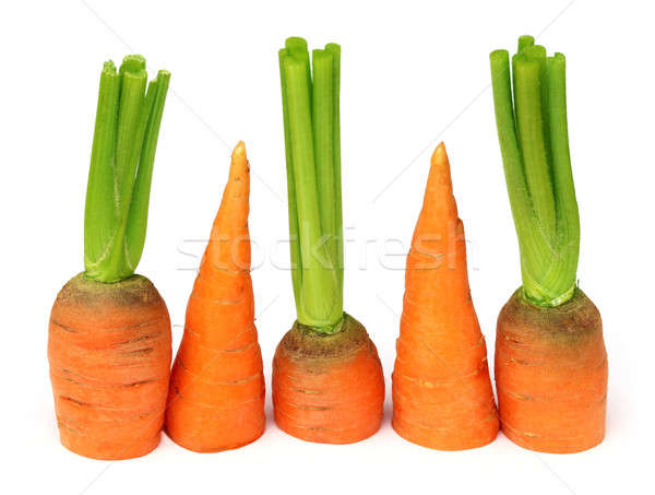 Fresh carrots with leaves  Stock photo © bdspn