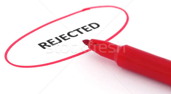 Rejected written in a paper Stock photo © bdspn
