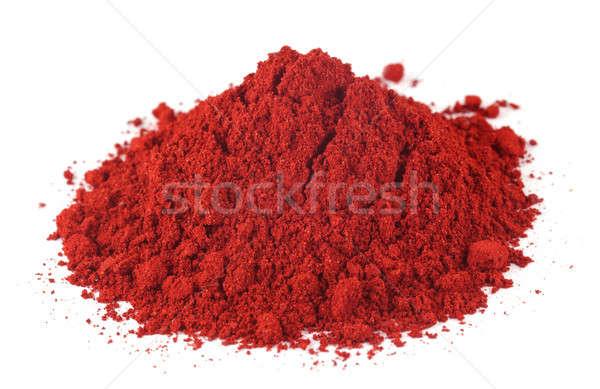 Textil szín por fehér étel háttér Stock fotó © bdspn