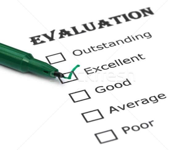 Evaluation sheet Stock photo © bdspn