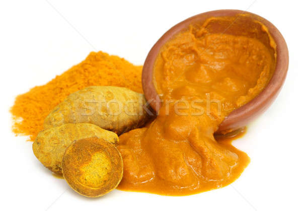 Turmeric with powder and paste Stock photo © bdspn