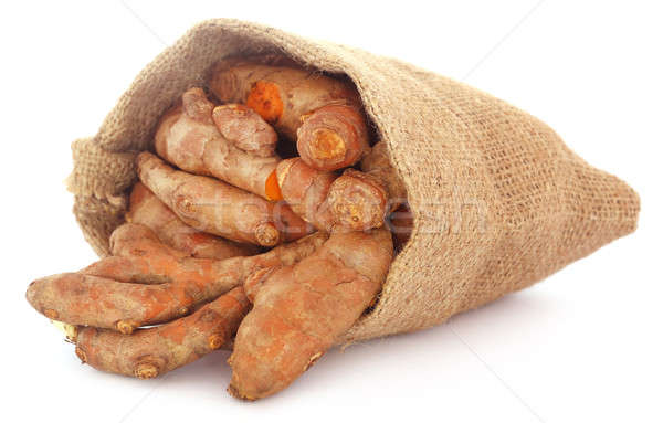 Turmeric in sack bag Stock photo © bdspn