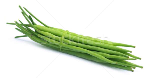 Zöld mustár bab fehér főzés stúdió Stock fotó © bdspn